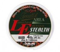 Sunline Troutist Area LE Stealth 100m Yellow&Clear